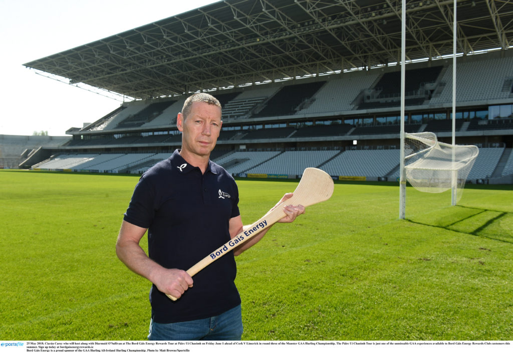 25 May 2018; Ciarán Carey who will host along with Diarmuid O'Sullivan at The Bord Gáis Energy Rewards Tour at Páirc Uí Chaoimh on Friday June 1 ahead of Cork V Limerick in round three of the Munster GAA Hurling Championship. The Páirc Uí Chaoimh Tour is just one of the unmissable GAA experiences available to Bord Gáis Energy Rewards Club customers this summer. Sign up today at bordgaisenergyrewards.ie Bord Gáis Energy is a proud sponsor of the GAA Hurling All-Ireland Hurling Championship. Photo by Matt Browne/Sportsfile