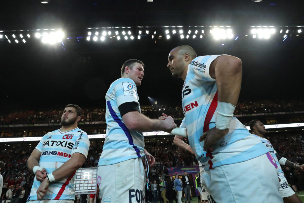 Heineken Champions Cup Quarter-Final, La Defense Arena, Paris, France 31/3/2019 Racing 92 vs Toulouse Racing's Donnacha Ryan and Simon Zebo after the game Mandatory Credit ©INPHO/Billy Stickland