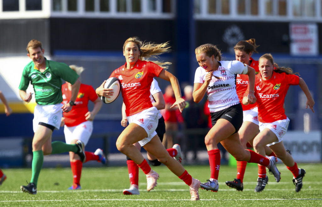 IRFU Women's Interprovincial Championship Round 1, Irish Independent Park, Cork 17/8/2019 Munster vs Ulster Munster's Eimear Considine leads a breakaway Mandatory Credit ©INPHO/Ken Sutton