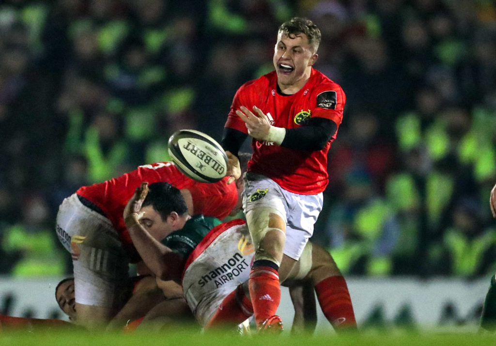 Guinness PRO14, The Sportsground, Galway, Co. Galway 21/12/2019 Connacht vs Munster Munster's Craig Casey Mandatory Credit ©INPHO/Billy Stickland
