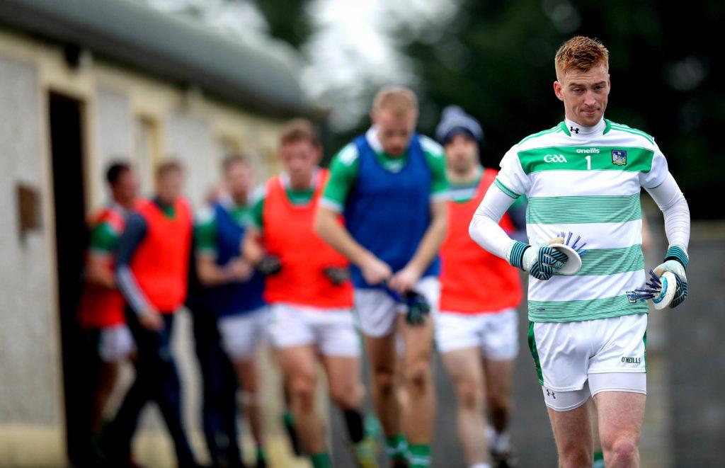 McGrath Cup Semi-Final, Rathkeale, Co. Limerick 6/1/2019 Limerick vs Cork Limerick's Donal O'Sullivan leads out his team  Mandatory Credit ©INPHO/Ryan Byrne