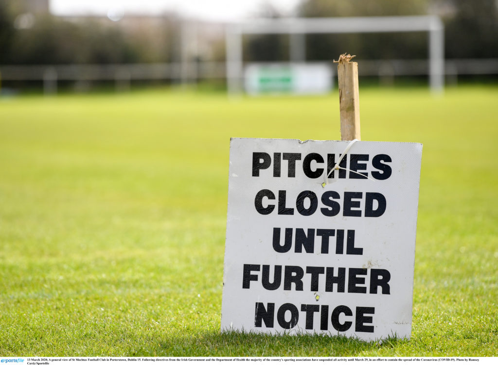 13 March 2020; A general view of St Mochtas Football Club in Porterstown, Dublin 15. Following directives from the Irish Government and the Department of Health the majority of the country's sporting associations have suspended all activity until March 29, in an effort to contain the spread of the Coronavirus (COVID-19). Photo by Ramsey Cardy/Sportsfile