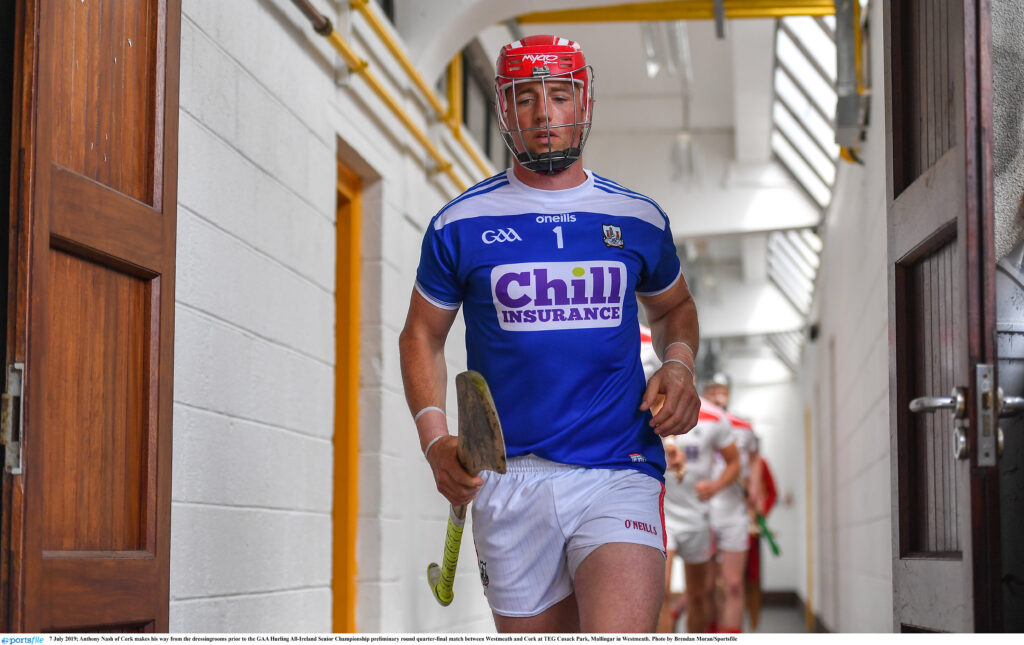 7 July 2019; Anthony Nash of Cork makes his way from the dressing rooms prior to the GAA Hurling All-Ireland Senior Championship preliminary round quarter-final match between Westmeath and Cork at TEG Cusack Park, Mullingar in Westmeath. Photo by Brendan Moran/Sportsfile